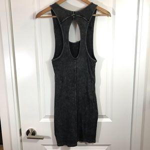 silence + noise Dresses - Silence + Noise Charcoal Bodycon Medium Dress